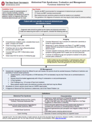 Clinical Practice Guideline: Abdominal Pain Syndromes: Evaluation and Management